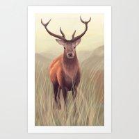 elk Art Prints featuring ELK by Juliana Vidal