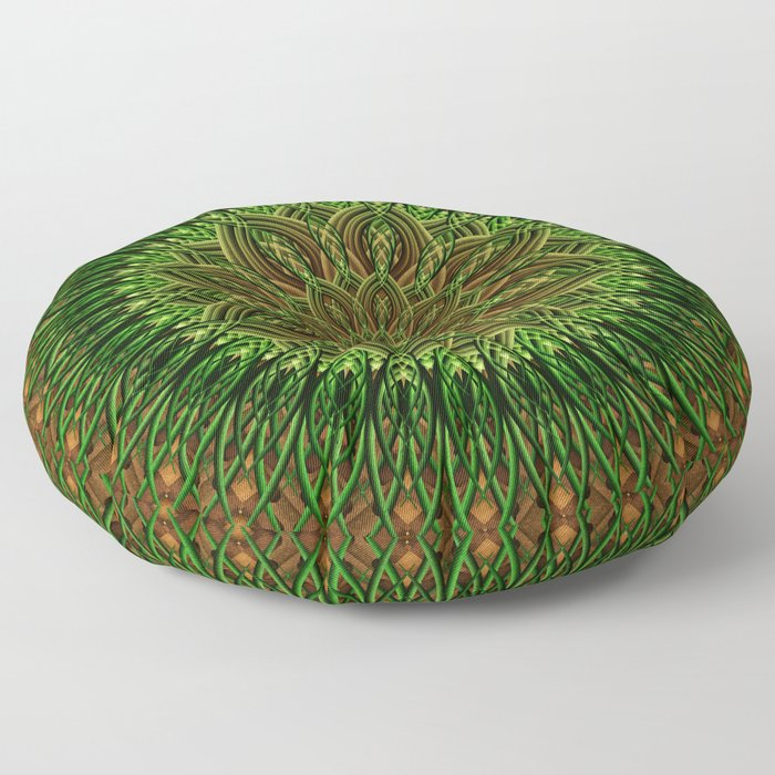 Earth Flower Mandala Floor Pillow