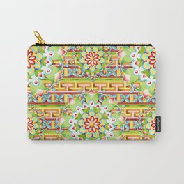 Fiesta Rainbow Mandala Carry-All Pouch