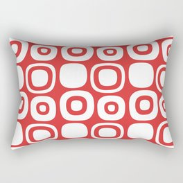 Mid Century Modern Garden Path Pattern 366 Red Rectangular Pillow