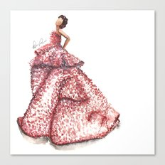 Slight Arc Watercolor Fashion Illustration Canvas Print
