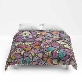 butterflies aflutter rosy pastels version Comforters