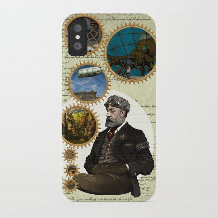 Jules Verne, a Steampunk vision iPhone Case
