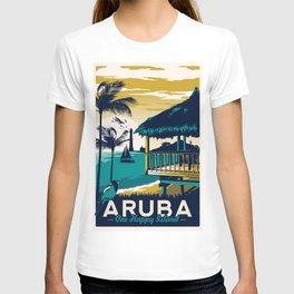aruba vintage travel poster T-shirt