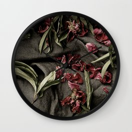 """Peonies are beautiful from the """"bud to to the end."""" Wall Clock"""