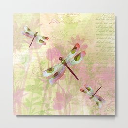 Pretty Dragonflies Metal Print