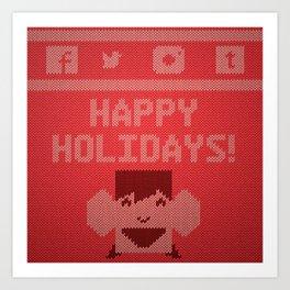 Doug's Ugly Sweater Art Print