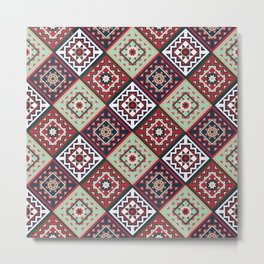 Quilted Multi-Colored Winter Metal Print