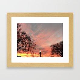 Cold Crisp Sunset Framed Art Print