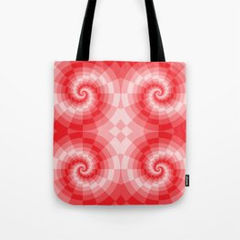 Red-white spirals made from blocks Tote Bag