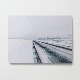 Icy Road Metal Print