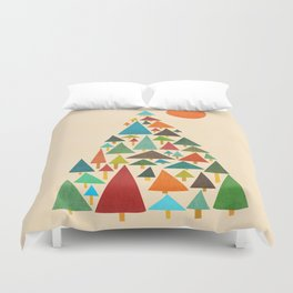 The house at the pine forest Duvet Cover