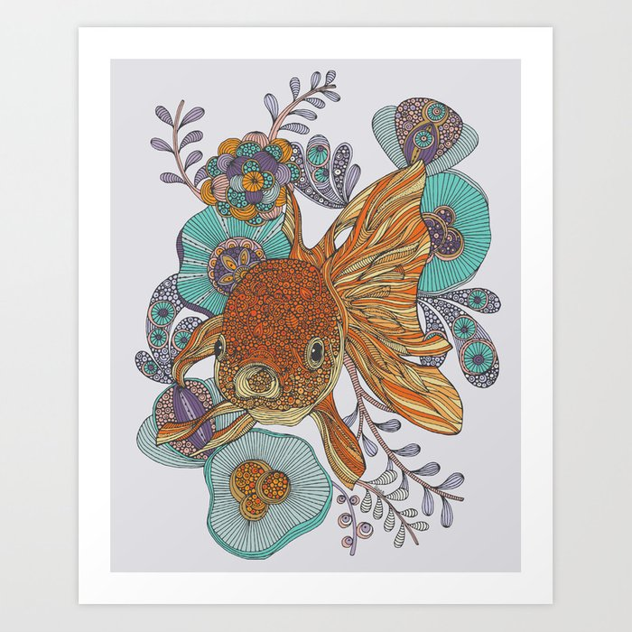 Little fish art print by valentinaramos society6 for 99 5 the fish