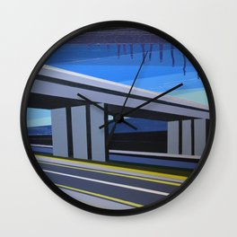 Highwayscape #13 Wall Clock