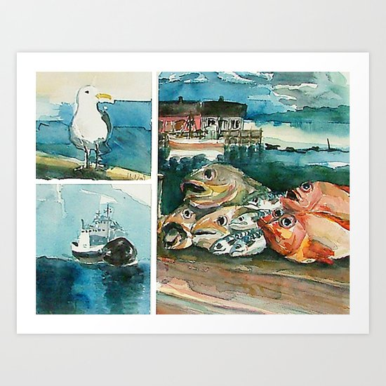 Memories frome the coast of Norway Art Print