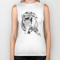 backpack Biker Tanks featuring Baggage Armadillo by Nat Osorio