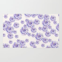 Puple Rose Painting Rug