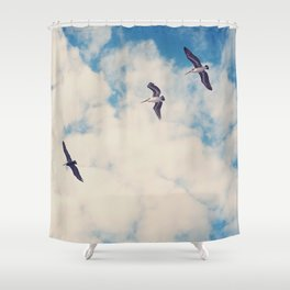 Flying Over Seas Shower Curtain