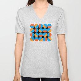 45's Orange/Blue Unisex V-Neck