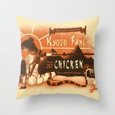 Kyoto Fang's Chicken Throw Pillow