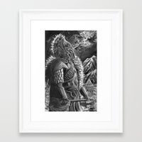 elf Framed Art Prints featuring elf by Sean Douglas