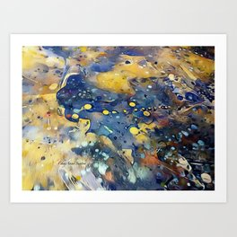 When Planets Align watercolor abstract by CheyAnne Sexton Art Print