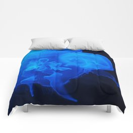 Blue Jelly Fish Comforters