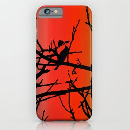 House Finch In Tree Silhouette on Tuscan Sunset iPhone Case