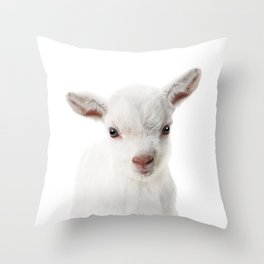 Baby Goat Throw Pillow