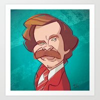 anchorman Art Prints featuring Anchorman by nachodraws