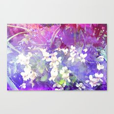 VIOLETS FLOWERS ON A DREAM Canvas Print