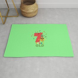 Seven Years seventh Birthday Party Pineapple Dbcg5 Rug