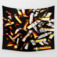 cancer Wall Tapestries featuring Abstract Cancer by Lon Casler Bixby - Neoichi