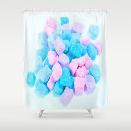 Candy: Pink Turquoise Lavender Gummy Bears Shower Curtain