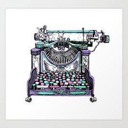 Magical Typewriter Art Print