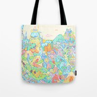 dragons Tote Bags featuring Dragons by Nick Bright