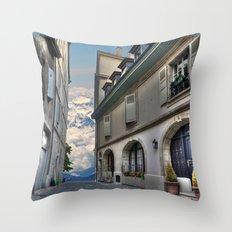 Far Beyond The Street Throw Pillow