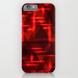 Red intersections on a dark metal background. iPhone Case