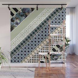 Folk textiles , patchwork Wall Mural