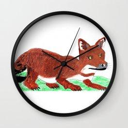 Crouching Dhole Wall Clock