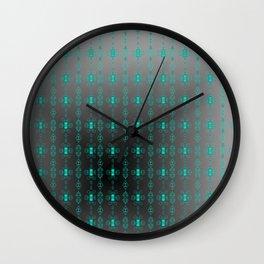 Softly-grey-blue-pattern Wall Clock