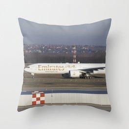 Emirates Boeing 777-300ER Throw Pillow