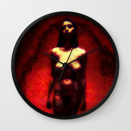 RGB PROJECT FEMALE walk in red   Wall Clock