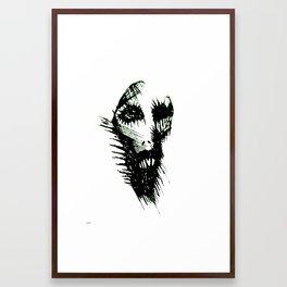 the dead evil man Framed Art Print