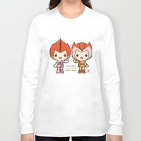 thundercats Long Sleeve T-shirts featuring Willykit & Willykat - 1 by Azul Piñeiro