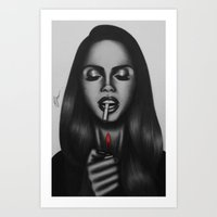 lana Art Prints featuring Lana  by Negrila Mircea Illustrations