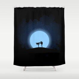Night fight Shower Curtain