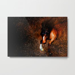 Of Knight's Steed Metal Print