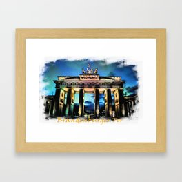 Brandenburger Tor I Framed Art Print