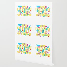 Here's A Great 80's design A Colorful 80's Design Saying Be Excellent To Each Other T-shirt Design Wallpaper